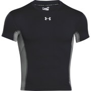 Under Armour Men's Heat Gear Armourstretch Short Sleeve Training T-Shirt - White/Steel