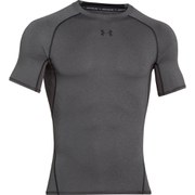 Under Armour Men's Armour Heat Gear Short Sleeve Training T-Shirt - Carbon Heather/Black