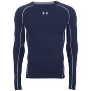 Under Armour Men's Armour Heat Gear Long Sleeve Compression Training Top - Midnight Navy/Steel