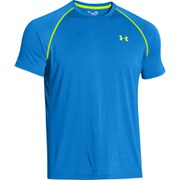 Under Armour Men's Tech T-Shirt - Jet Blue/Hi Vis Yellow