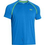 Under Armour Men's Tech T-Shirt - Jet Blue/Hi Vis Yellow