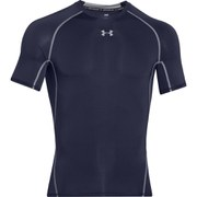 Under Armour Men's Armour Heat Gear Short Sleeve Training T-Shirt - Midnight Navy/Steel