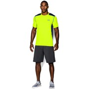 Under Armour Men's Raid Short Sleeve Training T-Shirt - High-Vis Yellow/Midnight Navy