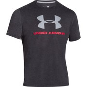 Under Armour Men's Sportstyle Logo T-Shirt - Black/Red/Steel