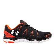 Under Armour Men's Micro G Engage II Running Shoes - Black/White/Bolt Orange