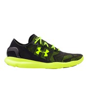Under Armour Men's SpeedForm Apollo Vent Running Shoes - Black/High-Vis Yellow