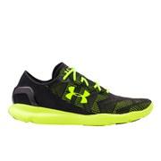Under Armour Men's SpeedForm Apollo Vent Running Shoes - Black/High-Vis Yellow