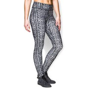 Under Armour Women's Heat Gear Alpha Compression Printed Training Leggings - Black/Steeple Grey/Metallic Silver