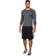 Under Armour Men's Armour Heat Gear Long Sleeve Compression Training Top - Carbon Heather/Black