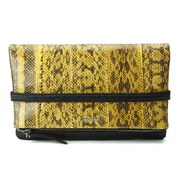 McQ Alexander McQueen Phlox Fold Clutch Bag - Yellow/Black