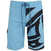 Animal Mens 20 Inch Blawa Fixed Waist Board Shorts - Hawaiian Blue