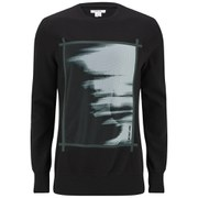 Helmut Lang Men's Ghost Print Mesh Ottoman Sweatshirt - Black