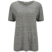 T by Alexander Wang Women's Heather Linen Jersey T-Shirt - Charcoal