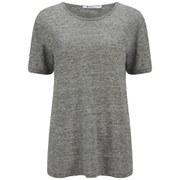 T by Alexander Wang Women's Heather Linen Jersey T-Shirt - Charcoal