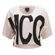 McQ Alexander McQueen Women's Cropped T-Shirt - Pink