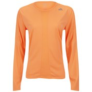 adidas Response Women's Long Sleeve T-Shirt - Vista Grey/Flash Orange