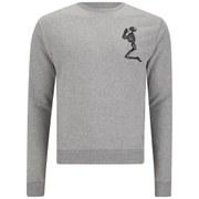Religion Men's Praying Skeleton Sweatshirt - Grey Marl