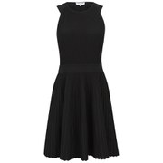 Opening Ceremony Women's Vert Stripe Flare Dress - Black
