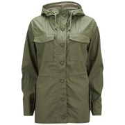 Current/Elliott Women's The Boyfriend Windbreaker Jacket - Army Green