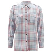 Current/Elliott Women's The Perfect Shirt - Indigo Mixed Gingham