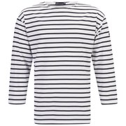 Armor Lux Men's Beg Meil Breton Shirt - White/Navy