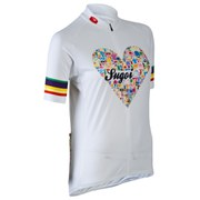 Sugoi Women's I Heart Bikes Short Sleeve Jersey - White/Black