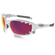 Oakley Racing Jacket Sunglasses - Matte White/Prizm Road and Persimmon