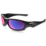 Oakley Straight Jacket Sunglasses - Polished Black/Red Iridium Polarized