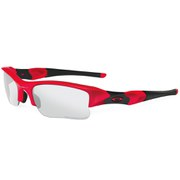Oakley Flak Jacket XIJ Sunglasses - Infared/Clear Black Iridium Transitions