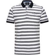 Jack & Jones Men's Cooper Striped Polo Shirt - Grey