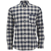 Selected Homme Men's Drake Long Sleeve Checked Shirt - Grey
