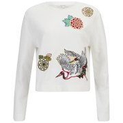 Carven Women's Printed Sweatshirt - Bright White