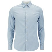 G-Star Men's Shattor Long Sleeved Denim Shirt - Blue
