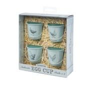 Eddingtons Egg Cup Buckets - Vintage Hens - Blue