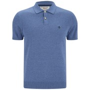 Original Penguin Men's Knitted Polo Shirt - Classic Blue