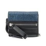 HUGO Women's Velvet Shoulder Bag - Medium Blue
