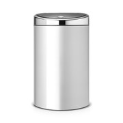 Brabantia 40 Litre Touch Bin - Metallic Grey