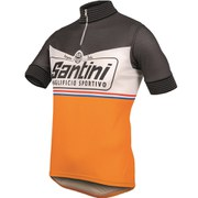 Santini Wool Heritage Short Sleeve 2.0 Jersey - Grey