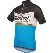 Santini Wool Heritage Short Sleeve 2.0 Jersey - Black