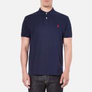 Polo Ralph Lauren Men's Custom Fit Short Sleeved Polo Shirt - Newport Navy