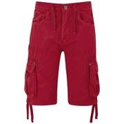 Crosshatch Men's Oprah Twill Cargo Shorts - Formula One Red