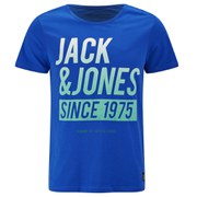 Jack & Jones Men's Core Up Short Sleeve Crew Neck T-Shirt - Turkish Sea