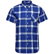 Jack & Jones Men's Core Letter One Pocket Camp Shirt - Turkish Blue