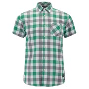 Jack & Jones Men's Core Letter One Pocket Camp Shirt - Pepper Green