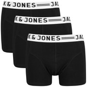 Jack & Jones Men's Sense 3-Pack Boxers - Black