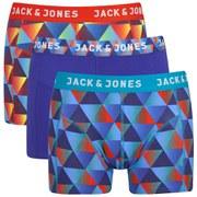 Jack & Jones Men's Gradient Regular 3-Pack Boxers - Blue