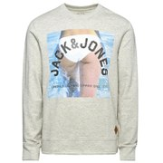 Jack & Jones Men's Originals Mike Crew Neck Sweatshirt - White