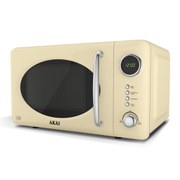 Akai Digital Microwave - Cream (700w)