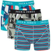 Jack & Jones Men's Cartoon Regular 3-Pack Boxers - White