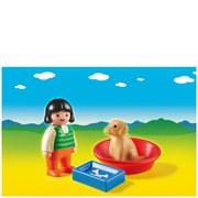 Playmobil 1.2.3 Girl with Dog (6796)